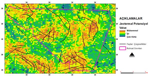 Şekil 5. Jeotermal Uygunluk-Potansiyel Haritası